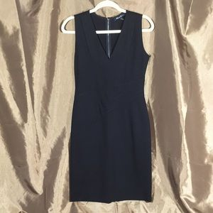Kenneth Cole v-neck black sleeveless dress